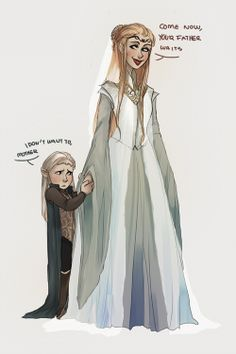 young legolas with his mother