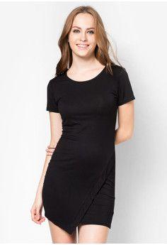 ZALORA BASICS Asymmetric Jersey Sheath Dress #onlineshop #onlineshopping #lazadaphilippines #lazada #zaloraphilippines #zalora