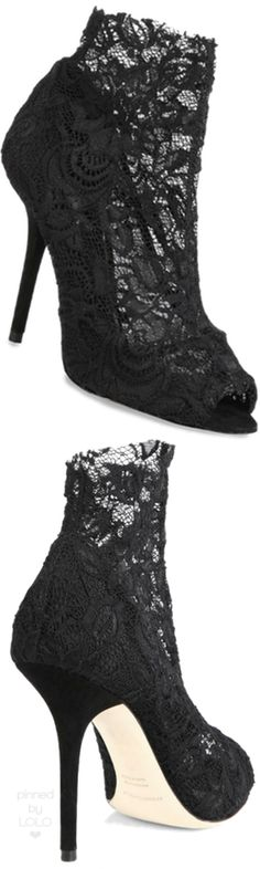Dolce & Gabbana Stretchy Lace Booties | LOLO❤︎
