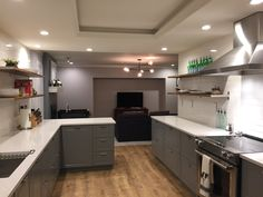 No upper cabinets, only Ikea base cabinets using bodbyn Gray Fronts Follow us on instagram for more pictures ! @365furnitureassembly