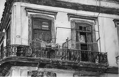 - - - - #art #pencil #drawing #artist #pencildrawing #graphitedrawing #realisticart #realism #blackandwhite #illustration #artistsonpinterest #picoftheday #bnwportraits #portraitdrawing #pencilart #graphite #realisticdrawing #cuba #havana #laundry #balcony Pencil Art, Pencil Drawings, Cuba, Painting, Balconies, Laundry Detergent, Painting Art, Paintings, Painted Canvas