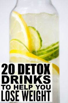 Detox drinks offer a great way to lose weight and to cleanse your body of unwanted toxins. They're also effective for a slew of other things - for skin, for acne, for energy, for bloating, for fat burning and a flat tummy - and with so many different homemade detox drink recipes to choose from, the possibilities really are endless. Here are 20 of our faves!
