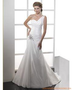 Robe A-ligne en taffetas avec une bretelle agrémentée de plis robe de mariée 2011