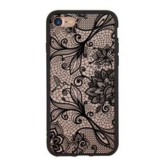 df1f695300 Details about Retro Flower Pattern Silicone Lace Acrylic Back Case Cover  For iPhone 8 7 6 Plus