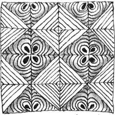Die schönsten Zentangle inspirierten Muster mit Anleitungs-Video zum Nachzeichnen.