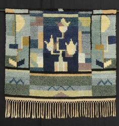 Ryijy elää Rya Rug, Wool Rug, Fibre Art, Hand Knotted Rugs, Art Dolls, Art Deco, Textiles, Tapestry, Quilts