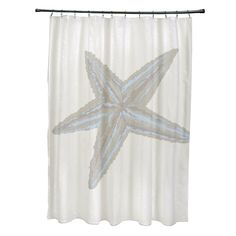 Bring the coast to your bathroom decor with this charming polyester curtain. Featuring a starfish print, this curtain features 12 button holes along the top for easy hanging.