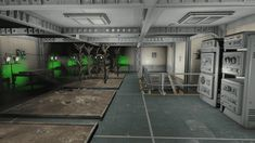 Welcome hall, barber store and elevator. Central atrium, luxurious rooms offered by More Vault Rooms mod and many other features. Fallout 4 Vault Tec, Fallout Game, Barber Store, Fallout 4 Settlement Ideas, Nerd Cave, Fall Out 4, Atrium, Vip, Workshop