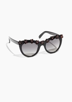 & Other Stories image 1 of Flowery Sunglasses in Black