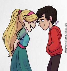 Mars (a. Starco) I like Star's headband here, I don't care for her regular… Steven Universe, Star E Marco, Jackie Lynn Thomas, World Of Gumball, Image Manga, Star Butterfly, Star Wars, Force Of Evil, Princesas Disney