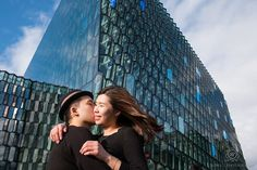 Iceland Pre-Wedding Photo Shoot ... Harpa Concert Hall CLICK THIS PIN to see more from this romantic and adventurous pre-wedding photo session.