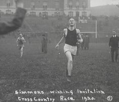 Crossing the Finish Line at Archbold, Syracuse University (1920) (Courtesy of archives.syr.edu)