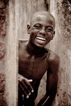 Laughing Young Man, Botswana.