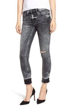 4237b7d5134 Hudson Jeans Nico Raw Hem Crop Super Skinny Jeans (Pepper)