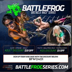 2016 Battlefrog Series Promo Code: Save $20 off registration for one of the best obstacle course races in the industry!