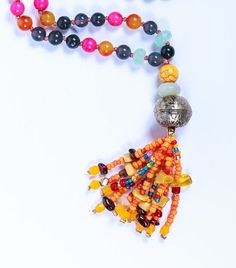Jade mala necklace ,Mala beads,gray Jade ,inner peace mala,glass Tassel Necklace ,spiritual gift, karma jewelrye,Howlite mala,Carnelian mala A special mala necklace   Jade is the dreams stone .conveys mutual love, modest, courage, wisdom and justice. Its brings patience and soothes, help to