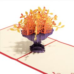 Papercraft Pop-Up Greeting Cards 3D Flowers
