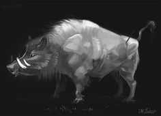 Okkoto by justjingles pig boar nature spirit Princess Mononoke monster beast creature animal | Create your own roleplaying game material w/ RPG Bard: www.rpgbard.com | Writing inspiration for Dungeons and Dragons DND D&D Pathfinder PFRPG Warhammer 40k Star Wars Shadowrun Call of Cthulhu Lord of the Rings LoTR + d20 fantasy science fiction scifi horror design | Not Trusty Sword art: click artwork for source