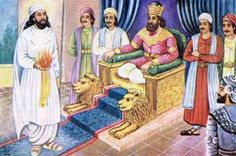 Zoroaster creating a ball of fire for King Vishtaspa (after being asked by him to prove that he is a messenger of God)