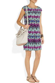 See by Chloé Printed silk crepe de chine dress