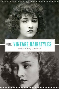 vintage hairstyles with naturally curly hair