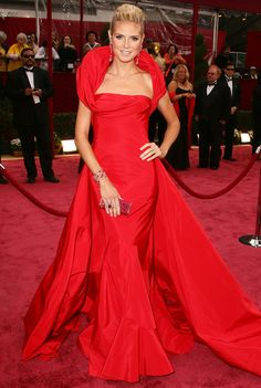 Heidi Klum's Best Red Carpet Looks Ever  - In Dior, 2008   - from InStyle.com