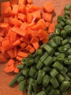 vegetables - carrots and beans