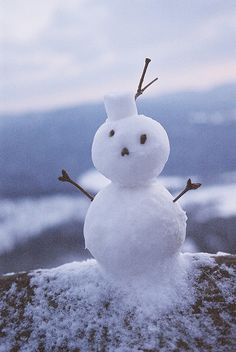 Love him! Hope I get to make a wee snowman this year myself. By Peter Glorie on Flickr