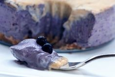 Raw Vegan Vanilla Blueberry Cake
