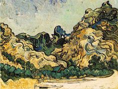 Vincent Van Gogh - Mountains at Saint-Remy (1889)