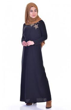 Sefamerve, Beli Büzgülü Spor Elbise 2911-01 Siyah