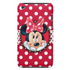 Minnie Polka Dot Frame iPod Touch Case-Mate Case
