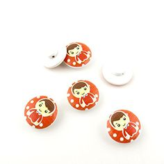 350 Pieces Sewing Clothing Buttons Sew On Wooden Wood Knopfe BB1208 Boy Round Colorful Plush Lovely Accessory Decoration Handmade Cute Scrapbook Flatback DIY >>> Click image to review more details.