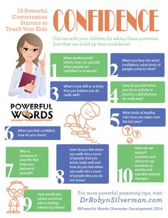 10 Powerful Conversation Starters to Teach Your Kids Confidence #drrobyn #powerfulwords