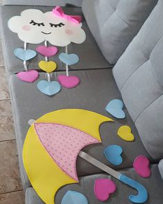 Diy Birthday Decorations, Baby Shower Decorations, Diy Home Crafts, Crafts For Kids, Foam Crafts, Paper Crafts, Moldes Para Baby Shower, Dr Seuss Baby Shower, Paper Flowers Craft