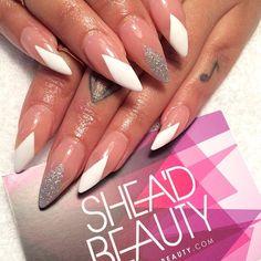 Nude nails with diamond tips by sheadbeauty #nail #nails #nailart