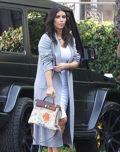 Kim Kardashian Photos: Kim Kardashian and Kanye West Head to the Office