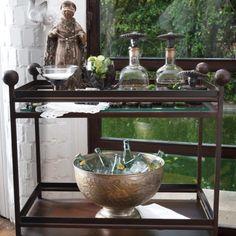 Jan Barboglio   The Collection   Furniture   Vitrina-Bar-Case-Screen   Linea Bar Cart