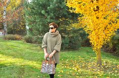 Oversized turtleneck inspiration bloggers outfit