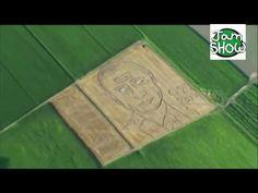 """Итальянский фермер трактором """"нарисовал"""" на поле портрет Путина 5 июля 2017"""