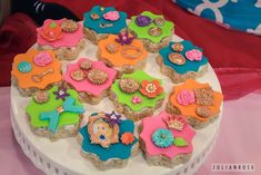 Colorful Alice in Wonderland birthday party treats! See more party ideas at CatchMyParty.com!