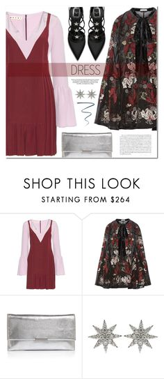 """227. Two-Tone Dress"" by auroram ❤ liked on Polyvore featuring Marni, Erdem, Loeffler Randall, Bee Goddess and NARS Cosmetics"