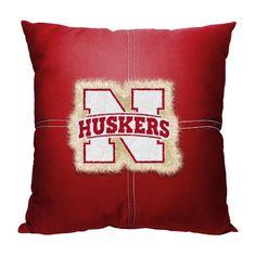 Nebraska Cornhuskers NCAA Team Letterman Pillow (18x18)