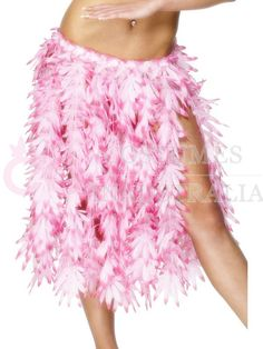 Looking for a perfect #FancyDressCostume for the summer beach parties?  Get the Hawaiian pink hula skirt from Costume in Australia & look exotic.