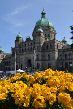 I was only 5 or 6 at the time, but I remember blue skies, flowers, and red double-decker buses!  Victoria, BC