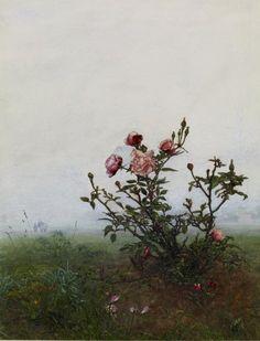 the rosebush, 1863 • léon bonvin