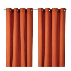 Love the style of these Ikea curtains. MARIAM Curtains, 1 pair IKEA The curtains let the daylight through but reduce direct sunlight. Ikea Curtains, Grommet Curtains, Curtains With Blinds, Cotton Curtains, Curtains Living, Velvet Curtains, Bedroom Curtains, Orange Curtains, Lights