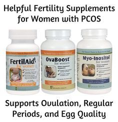 Fertility supplement for women with PCOS.  Supports regular ovulation, menstrual periods and egg quality.  #pcos #fertility #infertility