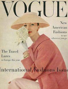 Evelyn Tripp, March Vogue 1956 by karen radkai