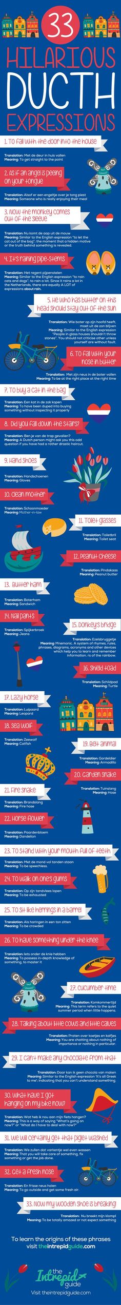 33 Hilarious Dutch Expressions - Click on image for their origins